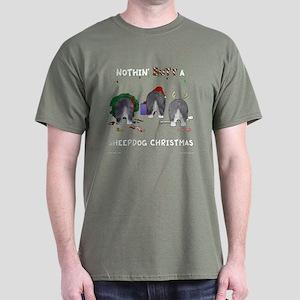 Nothin Butt A Sheepdog Xmas Dark T-Shirt