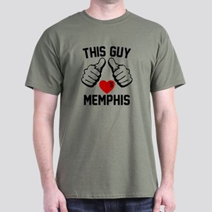 This Guy Loves Memphis Dark T-Shirt