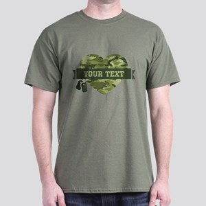 PD Army Camo Heart Dark T-Shirt
