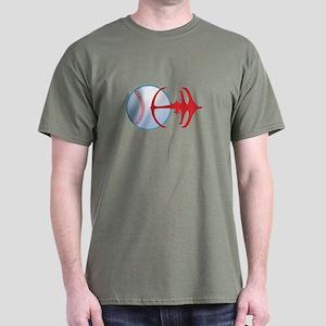 Deep Space Niners Logo Dark T-Shirt