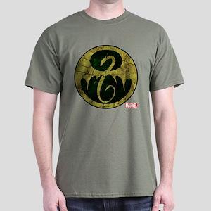 Iron Fist Icon Distressed Dark T-Shirt