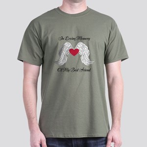 Memorial Heart And Angel Wings T-Shirt