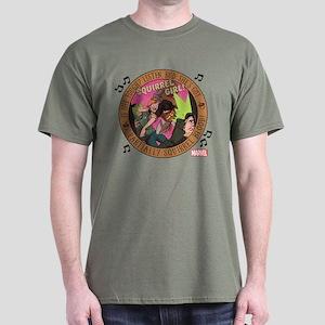 Squirrel Girl Action Dark T-Shirt