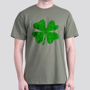 Green Distressed Shamrock Dark T-Shirt