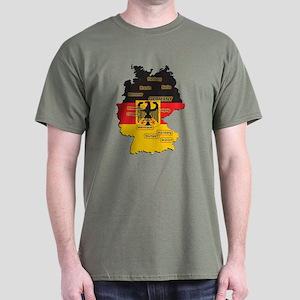 Germany Map Dark T-Shirt