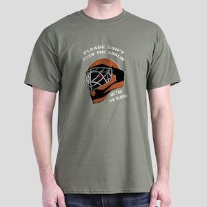 Don't Feed the Goalie Dark T-Shirt