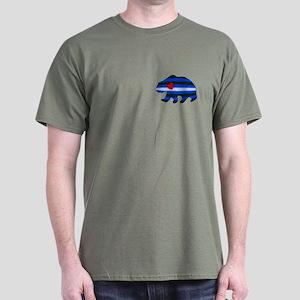 LEATHER BEAR TEXTURED PKT Dark T-Shirt