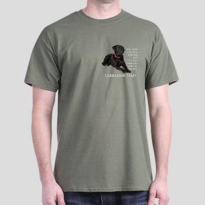 Black Lab Dad Dark T-Shirt
