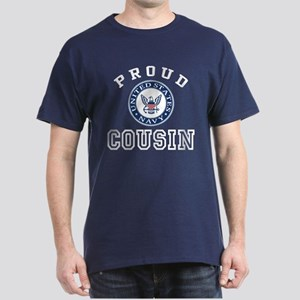 Proud US Navy Cousin Dark T-Shirt