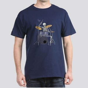 Skeleton Drummer Dark T-Shirt