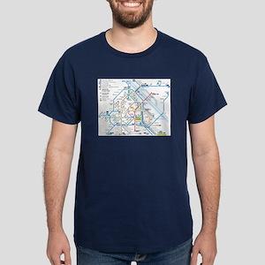 Osaka Subway Map T Shirt.Subway Map T Shirts Cafepress