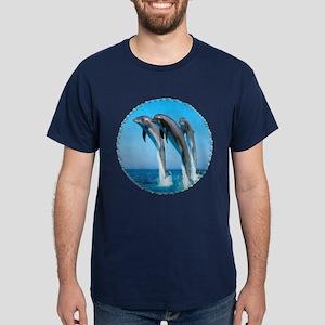 3 Dolphins Dark T-Shirt