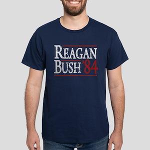 Reagan Bush 84 retro Dark T-Shirt