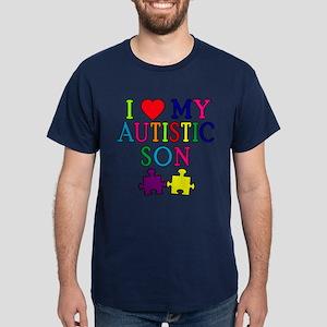 I Love My Autistic Son Tshirts Dark T-Shirt