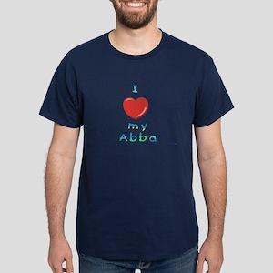 I Love My Abba Dark T-Shirt