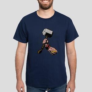 Marvel Comics Thor Hammer Retro Dark T-Shirt