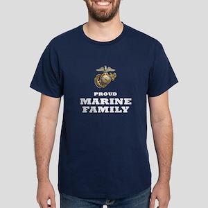 MARINES Eagle Globe Anchor - proud FAMILY Dark T-S