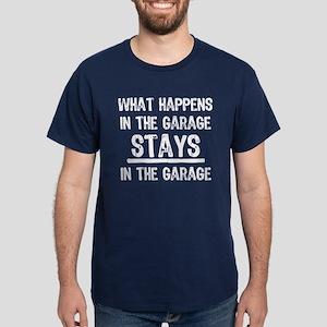 Stays In The Garage Dark T-Shirt