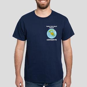 Earth's Dial Pocket Image Dark T-Shirt