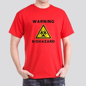Biohazard Warning Sign Dark T-Shirt