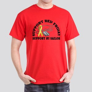 Support Red Friday (Sailor) Dark T-Shirt