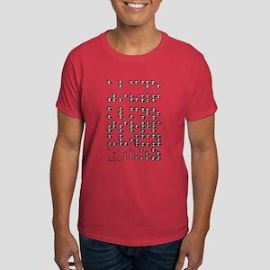 Braille A to Z Dark T-Shirt