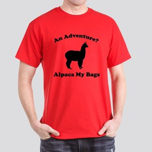 An Adventure? Alpaca My Bags Dark T-Shirt