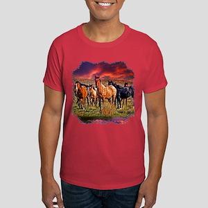 Sunset Horses Dark T-Shirt