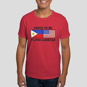 Proud Filipino American Dark T-Shirt