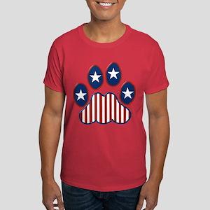 Patriotic Paw Print Dark T-Shirt