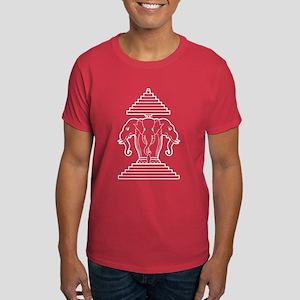 Three Headed Elephant Dark T-Shirt