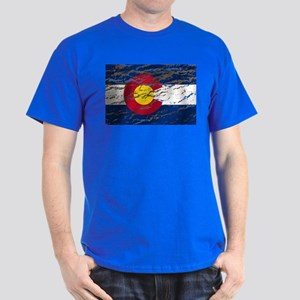 Colorado retro wash flag Dark T-Shirt