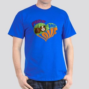 Pigs and Love Dark T-Shirt