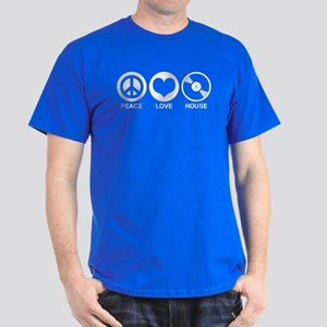 Peace Love House Dark T-Shirt