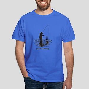 Personalized Gone Fishing Dark T-Shirt