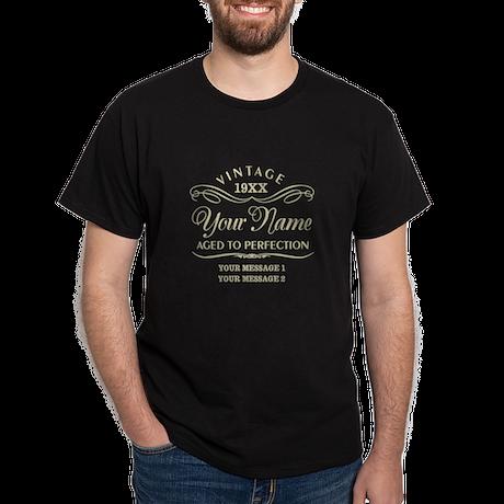 Personalize Funny Birthday Dark T-Shirt