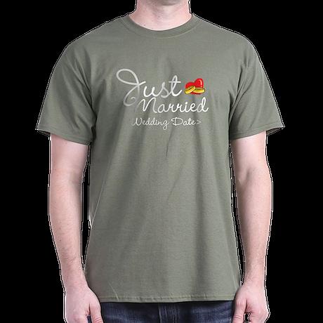 Just Married (Add Your Wedding Date) Dark T-Shirt
