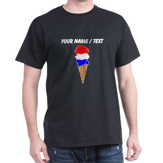 Custom Red White and Blue Ice Cream