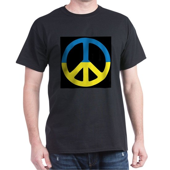 Peace Sign Ukraine Flag