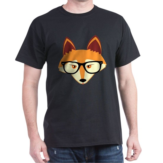 Cute Hipster Fox with Glasses