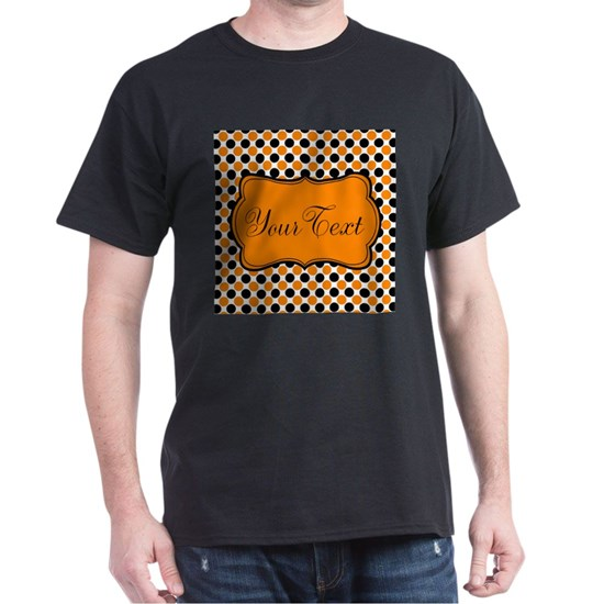 Personalizable Orange and Black Dots