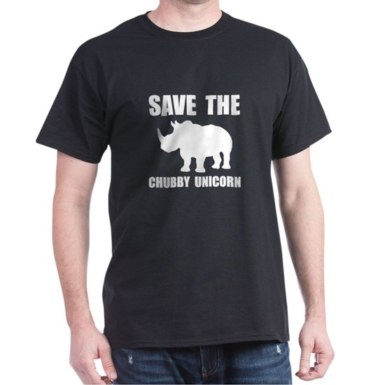 2d47f53d6 Chubby Unicorn Rhino Dark T-Shirt Chubby Unicorn Rhino T-Shirt by ...