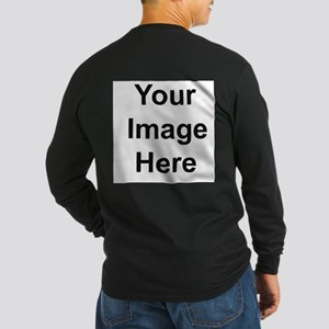 Mens Apparel Image On Back Long Sleeve T-Shirt