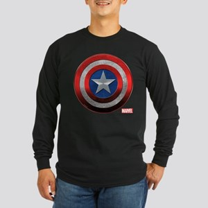 Captain America Grunge Long Sleeve Dark T-Shirt
