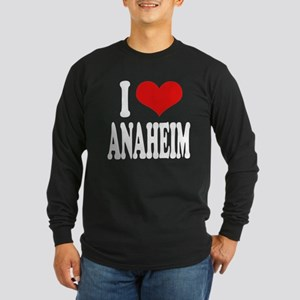I Love Anaheim Long Sleeve Dark T-Shirt