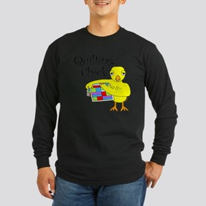 Quilting Chick Text Long Sleeve T-Shirt