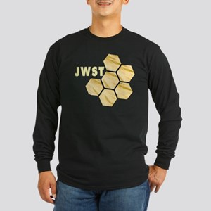 James Webb Mirror Logo Long Sleeve Dark T-Shirt