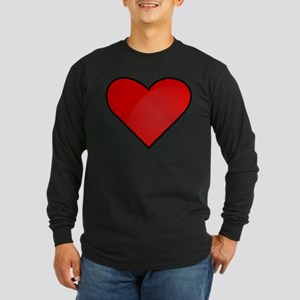 Red Heart Drawing Long Sleeve T-Shirt