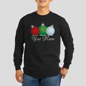 Ornaments Personalized Long Sleeve Dark T-Shirt