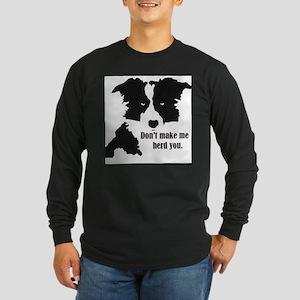 Border Collie Art Long Sleeve T-Shirt